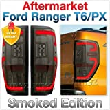 TUNEZ® Smoked LED Tail Lights Rear Lights Compatible With Ranger PX T6 MK1 MK2 Wildtrak XL XLS XLT Limited 2 Styled Three LED