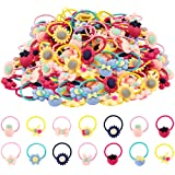 Girl Hair Ties,60 Pcs Rubber Bands Elastic No Damage Colorful Soft Pigtail Holders for Infants Toddlers Kids Little Girls