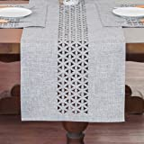 ARTABLE Rectangle Table Runners Fabric Home Gary Table Runner with Well-Trimmed Edge for Picnics Indoor and Outdoor Dining Ho