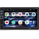 Double Din Car Stereo WZTO Car Stereo Compatible with 7 inch Touch Screen Bluetooth Headunit TF USB FM Aux-in Radio Audio Sup