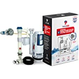 ForeverPRO DFVFVK Universal Water Saving Dual Flush Valve and Fill Valve with Push Button Toilet Repair Kit Fits Standard 2 i