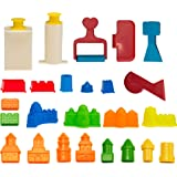 CoolSand Building Sand Molds and Tools Kit - Works with All Other Play Sand Brands - 27 Pieces Includes: Castle, Bricks and W