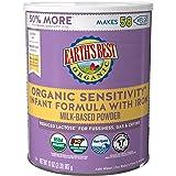 Earth's Best Organic Low Lactose Sensitivity Infant Powder Formula with Iron, Omega-3 DHA and Omega-6 ARA, 35 oz.
