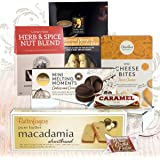 Gift Cookies, Nuts & Crackers Family Food Hamper with Australian Butter Shortbread Biscuits and Caramel Fudge