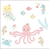 Bedtime Originals Ocean Mist Wall Decals, Multicolor