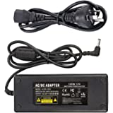 12V 10A Power Suppy, CFSadapter AC 100-240V to DC 12V 10A Switching Power Supply Adapter Charger with 5.5mm x 2.5mm DC Plug f