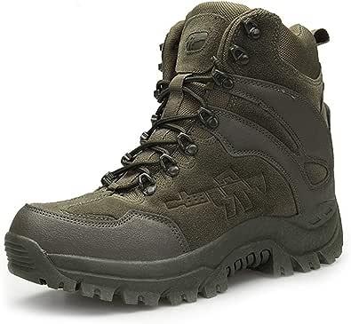 [ライジングサン] サバゲーブーツ ミリタリー コンバット 軍警 登山靴 厚底 メンズ 短靴 サイドジッパー 防滑 通気性