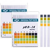 Hicarer Universal pH Test Paper Strips for Test Body Acid Alkaline pH Level, Skin Care, Aquariums, Drinking Water, with 4 Tes