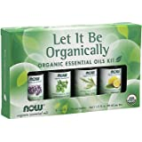 Now Foods Let It Be Organically, Organic Essential Oil Kit, Bottles, 10ml (Pack of 4)