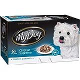MY DOG 12023 Chicken Supreme Dog Wet Food, 6 x 100g, Adult, Small/Medium