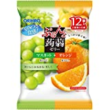 オリヒロ ぷるんと蒟蒻ゼリーパウチ マスカット+オレンジ 12個