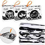 First Soft Book for Babies Early Development and Activity Toys for Toddler Infants Black and White Cloth Books with Six Theme
