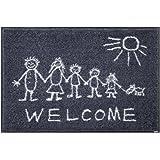 クリーンテックス・ジャパン 玄関マット Welcome Sunny Side 50×75cm wash+dry(ウォッシュ アンド ドライ) AB00003