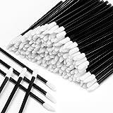600PCS Disposable Lipstick Applicators Wands Makeup Applicators Brushes Lipgloss Applicators Tester Wands ECBASKET Disposable