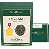 VAHDAM, Green Tea Leaves from Himalayas (50 Cups), 100% Natural Tea, Powerful Anti-OXIDANTS, Brew Hot Tea, Iced Tea or Kombuc