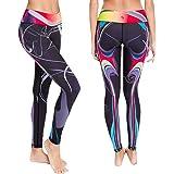 Platinum Sun Women's Swim Leggings UPF 30+ with Printed Designs