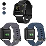 ESeekGo Fitbit Blaze Bands, 3 Pack Silicone Band 1 Pcs Metal Frame Fitbit Blaze Replacement Sport Fitness Accessory Wristband