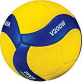 Mikasa Sports Unisex Official FIVB Indoor Game Volleyball V200W, Blue/Yellow, Official