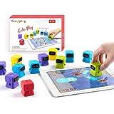 Tangiplay 知育玩具 プログラミングおもちゃ iPad専用 6歳-12歳子供向け みらプロ2020 空間認識力/思考力/計算力/想像力を向上 STEM教育 学研 小ロボット型 120種以上のパズル キッズ 入園 入学 誕生日 プレゼント アプ