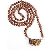 Wonder Care Original Rudraksha Mala - 108 Beads (5 Faced) + 1 Guru Bead (1 Faced) Genuine Himalayan Rudraksha Seeds Religious