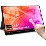 Portable Touch Monitor Travel Screen Second Touchscreen External Dual Full HD USB C Computer Gaming for Laptop 14.0 Inch 1920