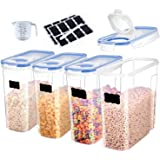 Cereal Container Storage Set of 4 - Airtight Food Storage Containers 4L (135.2oz) for Rice,Snacks and Sugar - BPA Free Cereal