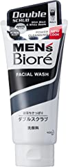 Biore Men's Double Scrub with Black and White Beads, 130g