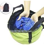 TAKU バケツ 折りたたみ 足湯バケツ 桶 12L コンパクト 折りたたみバケツ 簡易バケツ 出張 旅行洗濯 洗面器…