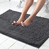 ITSOFT Non-slip Shaggy Chenille Soft Microfibers Bathroom Rugs and Bath Mat(34 x 21 Inch) with Water Absorbent Machine Washab