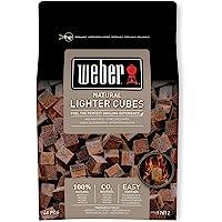ウェーバー(Weber) バーベキュー コンロ BBQ グリル 着火剤 100%天然素材点火キューブ 48個入(一回あた…