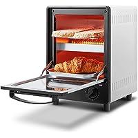 COMFEE' オーブントースター 庫内上下2段構造 2つの同時調理にできる 3段階温度調節 15分タイマー 焼きムラ抑…