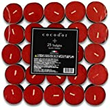 Cocod'or Scented Tealight Candles 100 Pack, Black Cherry, 5-8 Hour Extended Burn Time, Made In Italy