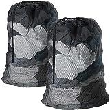 2 Pcs Large Laundry Bag with Drawstring Mesh Laundry Bag for Washing Machine by Meowoo