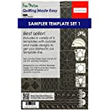 (Low & Medium Shank) - Sew Steady Quilting Template 6 Piece Template Set (Low & Medium Shank)