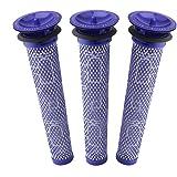 3 Pack Pre Filters for Dyson DC58, DC59, V6, V7, V8. Replacements Part # 965661-01. 3 Filters Kit for Dyson Filter Replacemen