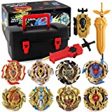 piberagi Bey Battling Top Burst Launcher Grip Set Storage Box 8 Top Burst Gyros 3 Launchers Great Birthday Present for Boys C