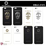 BANDEL バンデル【iPhone6 Plus/6s Plus対応】Metallic iPhone Case【ハードシリコンケース】ロゴ&スカルデザイン・ブラック&ホワイトカラー・光沢プレート (ロゴ, BK×GD MIP6P)