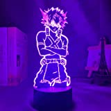 CHWORTHAND 3D Anime Night Light Katsuki Bakugo Figure Night Light for Bedroom Lamp 16 Colour Anime My Hero Academia Decor Lig