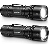 GearLight Tac LED Tactical Flashlight [2 Pack] - Single Mode, High Lumen, Zoomable, Water Resistant, Flash Light - Camping Ac