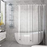 AooHome 防カビ シャワーカーテン 透明 90 × 180cm 防水 バスカーテン ユニットバス 浴室 間仕切り…