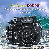 Sea Frogs Canon EOS M5 専用 ダイビング 水中カメラケース アンダーウォーターハウジング 防水性能40m 防水プロテクター 防水ケース 防水ハウジング 保護ケース 防水プロテクター 水中撮影用 国際防水等級IPX8 フィルター付
