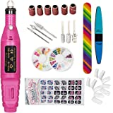 iMeshbean Electric Nail Drill File Polish Kit Portable Pedicure Machine Tool 100-240V with 6 File and Extra Gifts