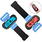 Wrist Bands for Nintendo Switch Controller Game Just Dance 2019, Adjustable Elastic Strap for Joy-Cons Controller, Two Size f
