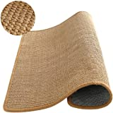 """M&M Natural Sisal Cat Scratching Mat,Scratching Post for Cat/Kitty Grinding Claws & Protecting Furnitures(23.6""""23.6"""")"""