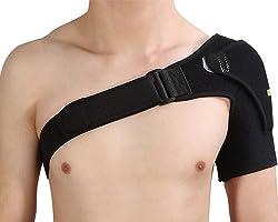 肩背带肩带背带右左通用肩部固定袖子款双向调节酸痛消除体寒肩周炎五十肩脱臼安装简单棒球网球乒乓球高尔夫适用