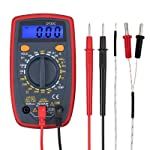 Proster Digital Multimeter Mini Multi Tester Measures Volts Amps Ohms Temperature Continuity Diodes with Backlit LCD...