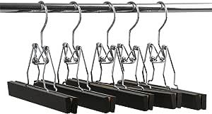 【(ナカタハンガー)NAKATA HANGER 木製】 ズボン吊りハンガー 5本組 スモークブラウン SET-06