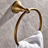 Leyden Antique Bathroom Accessories Brass Towel Ring Towel Rack Towel Shelf Lavatory Accessories Wall maounted