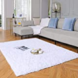 Yome Machine Washable Area Rug, Shaggy Home Decor Floor Rug, Carpet Overlocking on Edges, Ultra Soft Carpet for Bedroom, Livi
