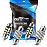 Marsauto 31mm DE3175 Festoon LED Bulbs Extremely Bright LED Bulbs 1.25inch 400LM 6000K 2835SMD 3175 DE3021 3022 3021 for Inte